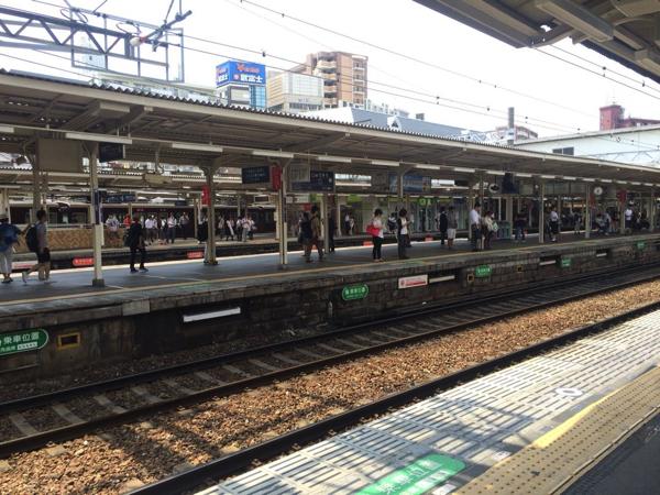 十三駅のホーム