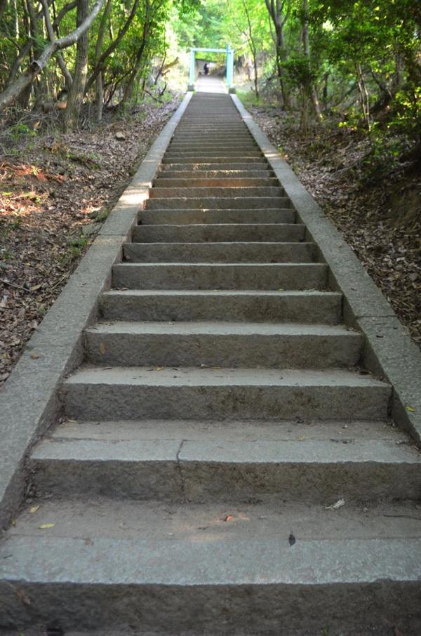 歩きやすい石の階段