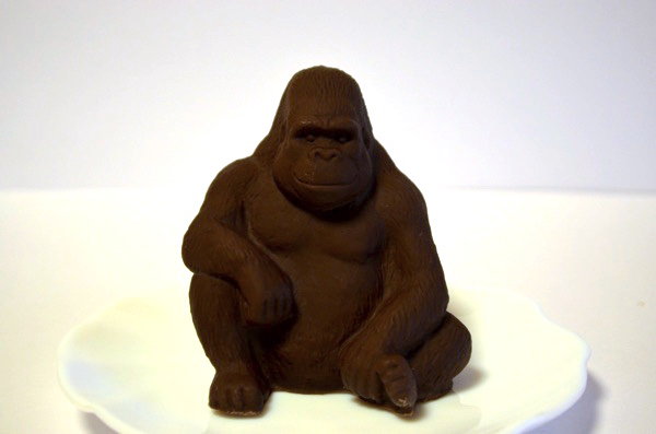 「ZOOLOGY」のゴリラ型チョコレート