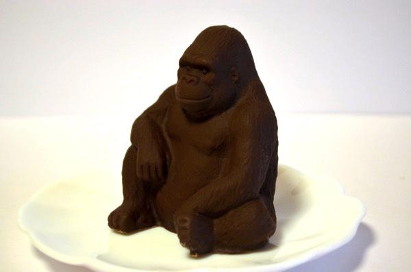 ゴリラ型のチョコレート