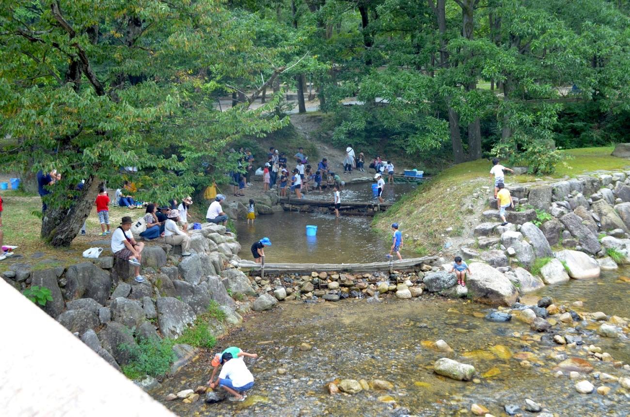 キャンプ場を流れるヨキトギ川