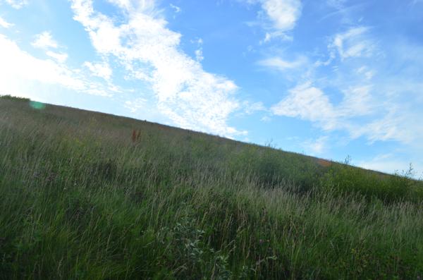 モエレ山の傾斜