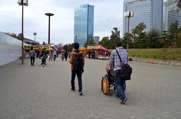 「大阪城公園」駅前からスタート!