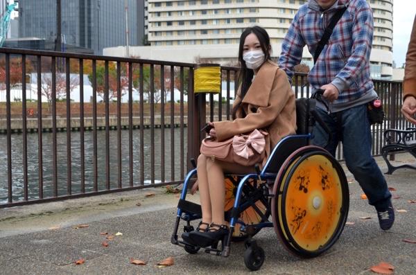 車椅子からの目線は低い