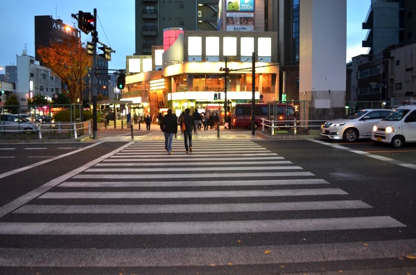 長い横断歩道