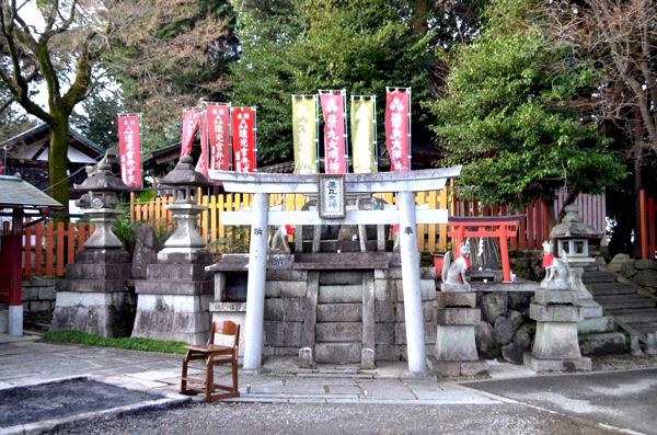 花山稲荷神社のお火焚きの場所