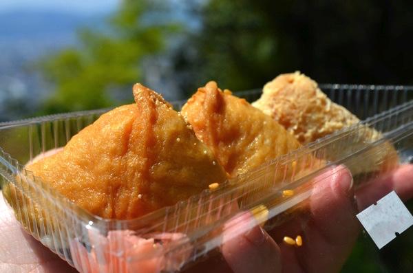 四ツ辻で食べるいなり寿司!