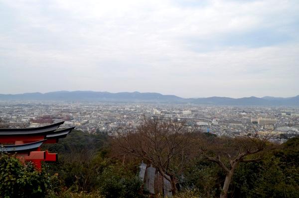 四ツ辻から眺める京都市内の風景