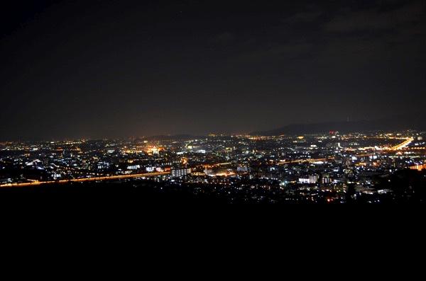 稲荷山からの夜景
