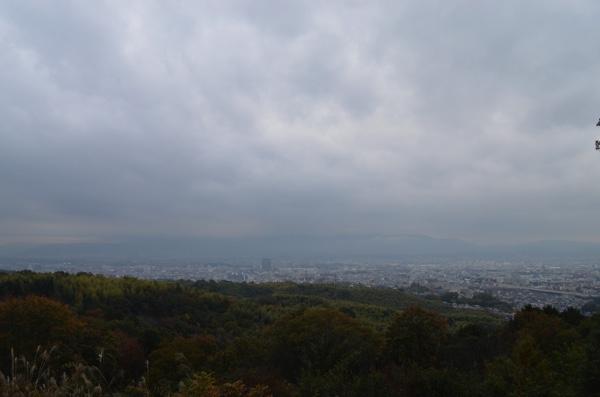 大岩山展望所から望む京都市内の風景