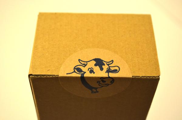 かわいい牛のシール