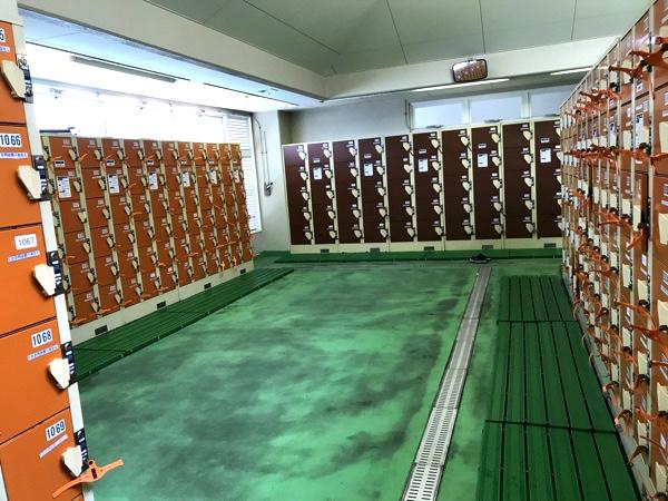 「かめプー」の更衣室