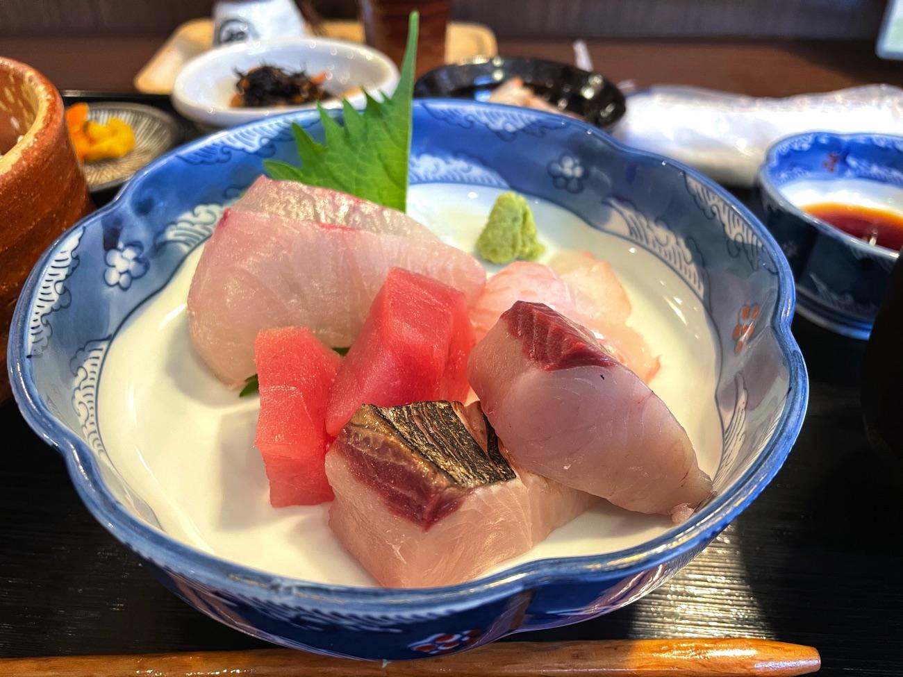 三重県産の魚のお造り