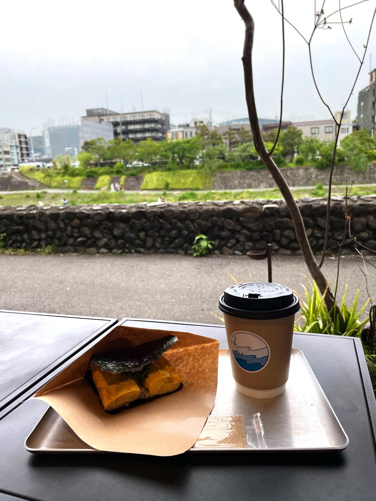 「卵焼き&ネギ味噌」とホットコーヒー