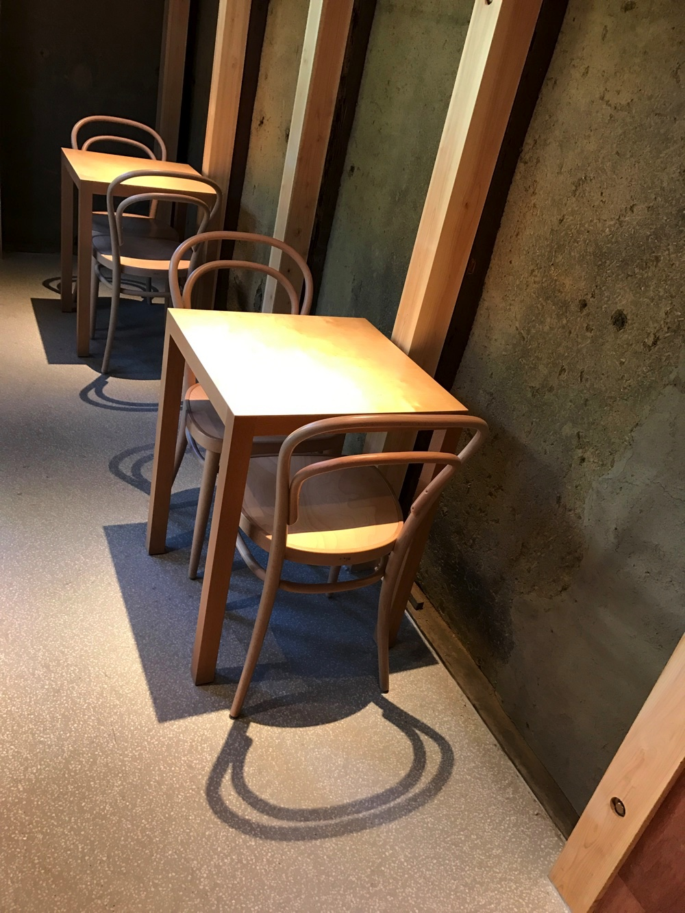 お店の奥にある座席