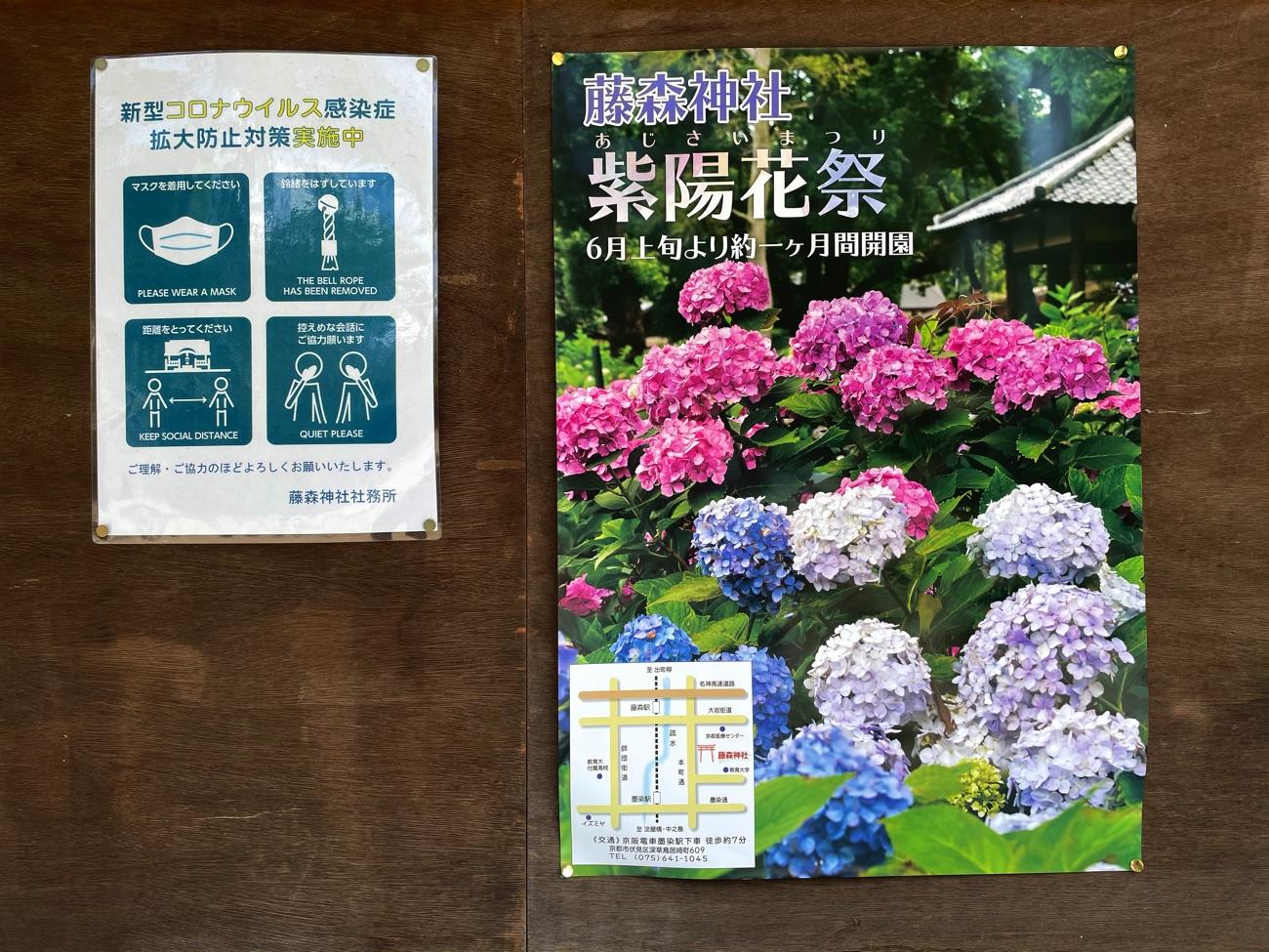 「紫陽花祭」のポスター
