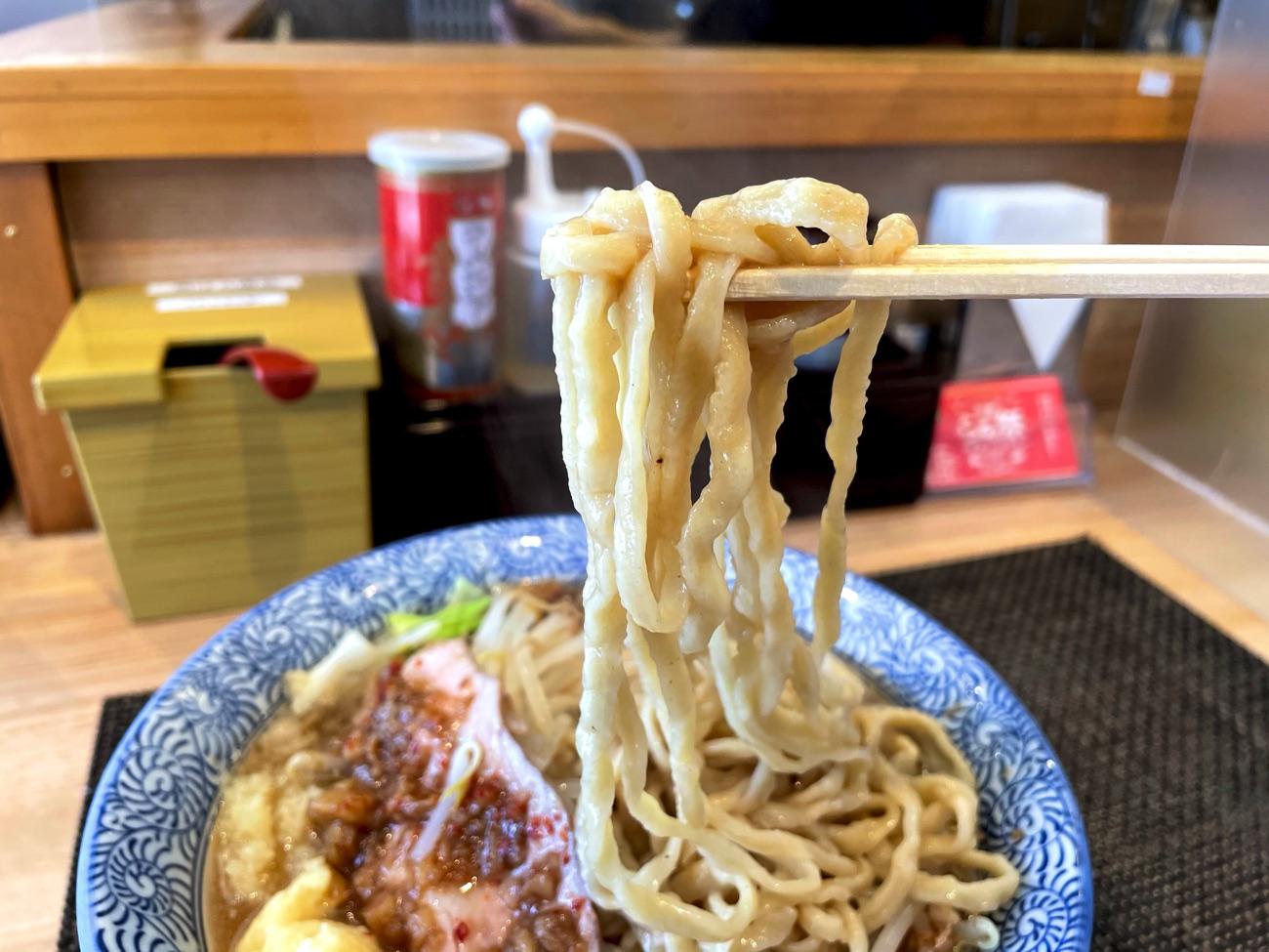 極太ちぢれ麺