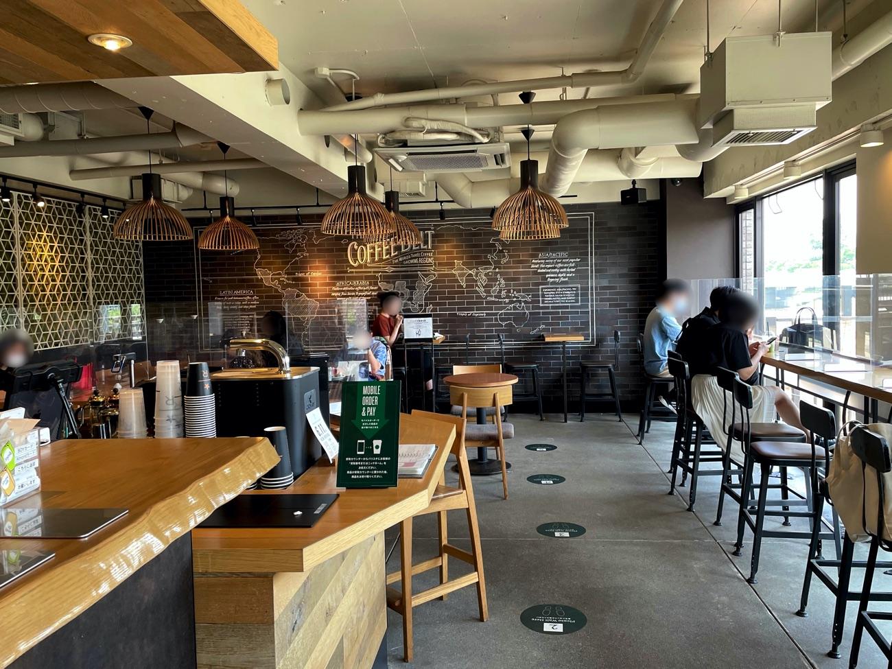 「スターバックス・コーヒー 京都三条大橋店」の店内