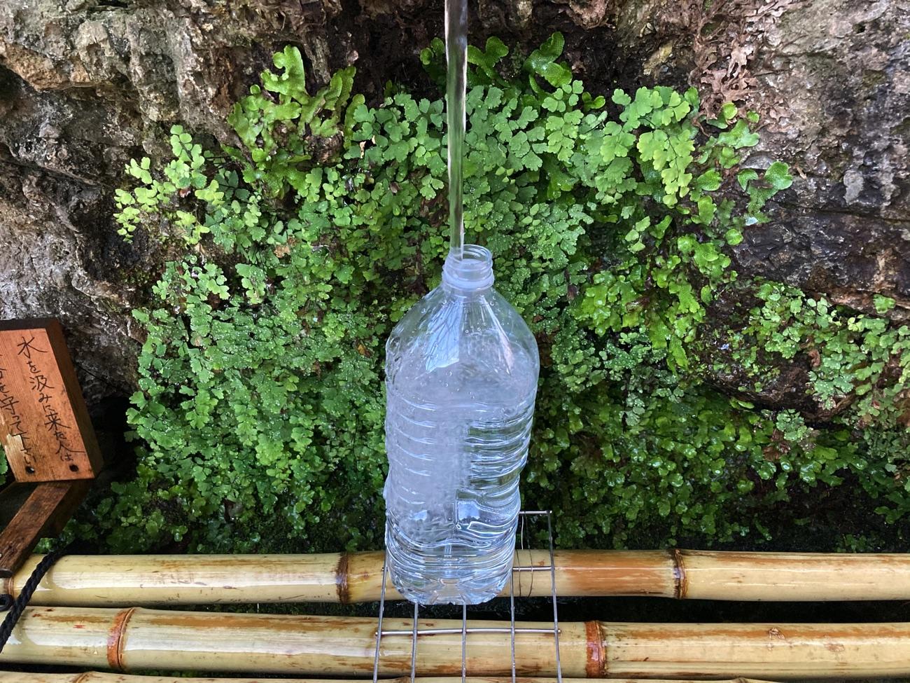 2リットルのペットボトルもすぐに満タン!