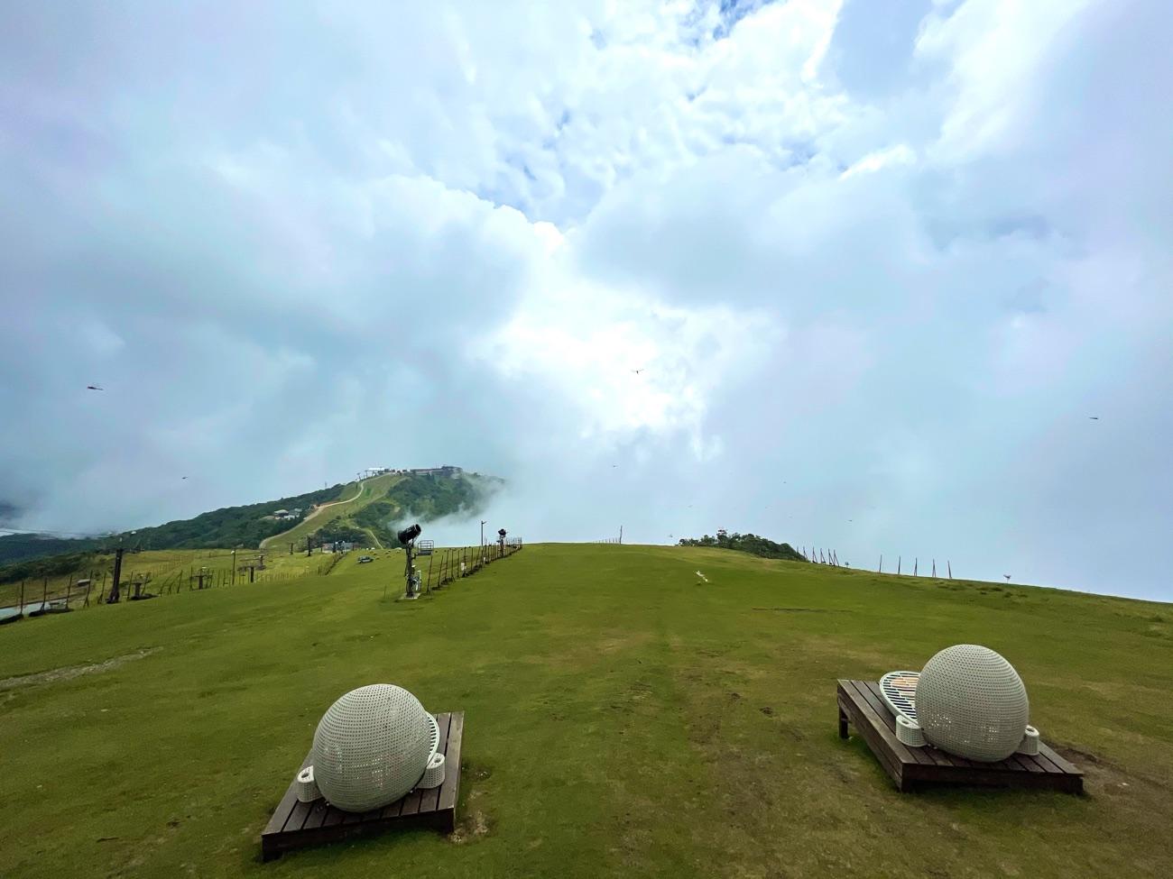 蓬莱山の山頂