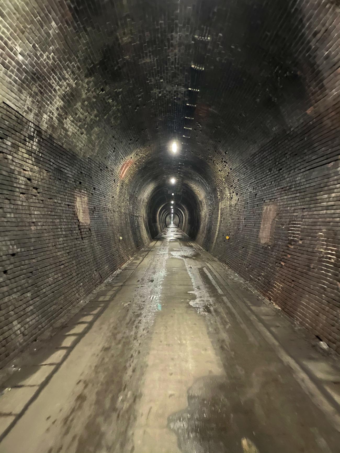 「山中トンネル」の中