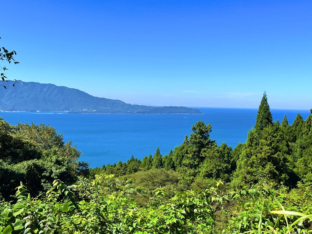敦賀湾が見えた!