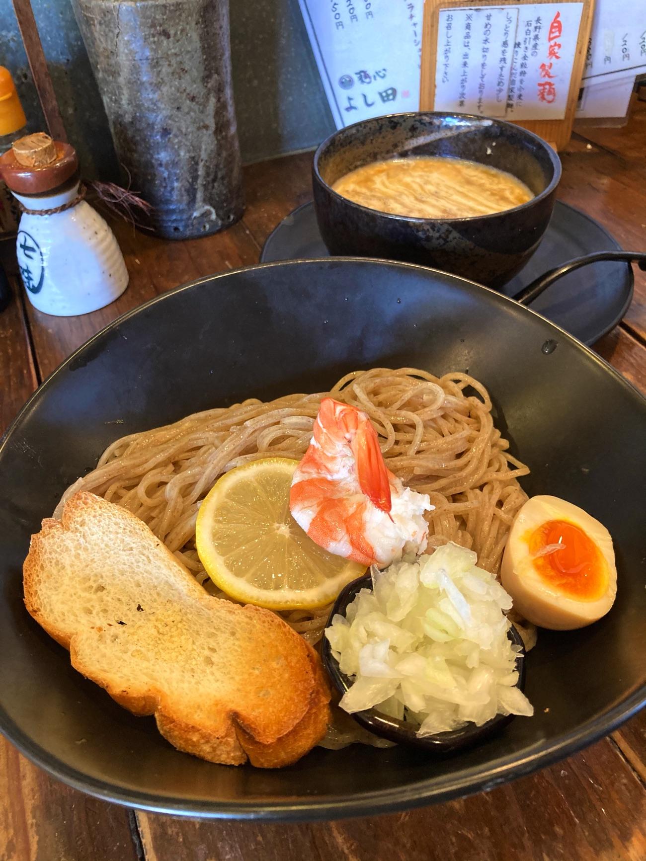 数量限定の「濃厚海老つけ麺」