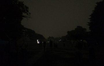 大文字点火10分前のようす(京都御苑)
