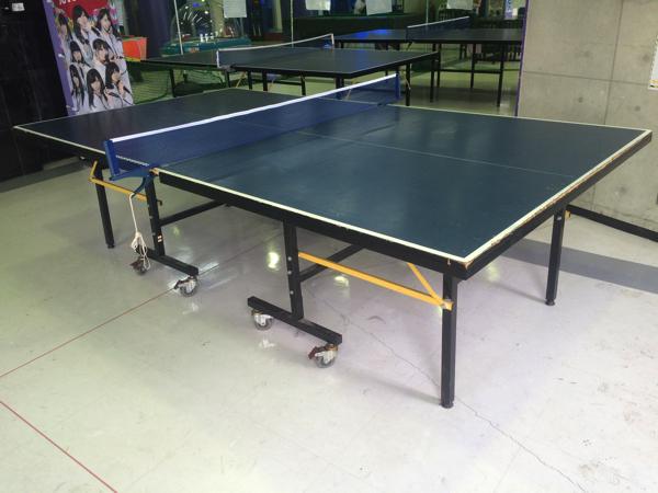 メガドームの卓球コーナー
