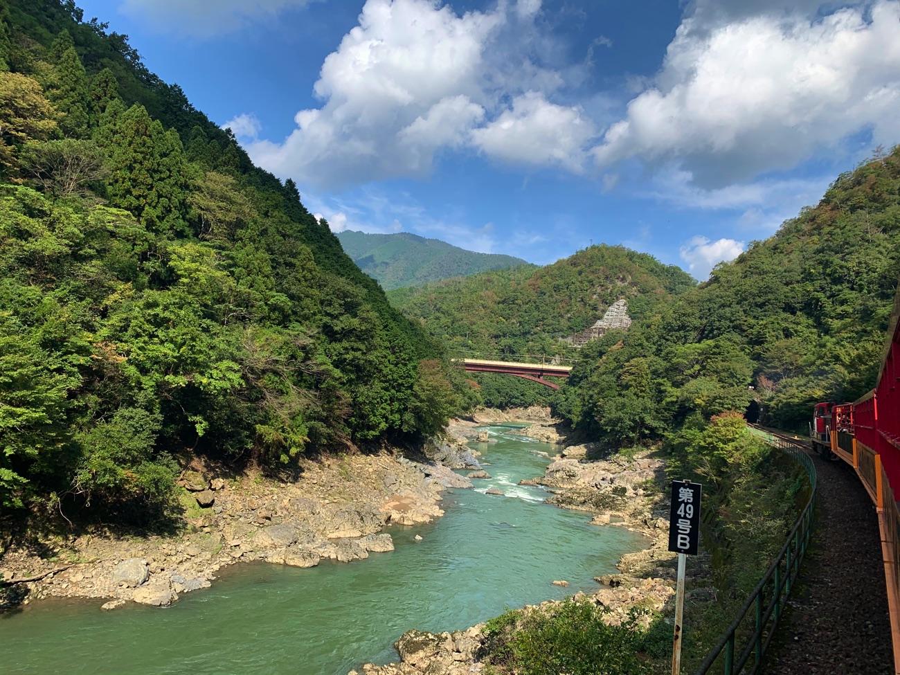 保津川に架かる橋