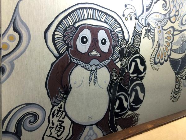 壁に描かれた絵がアーティスティック!!
