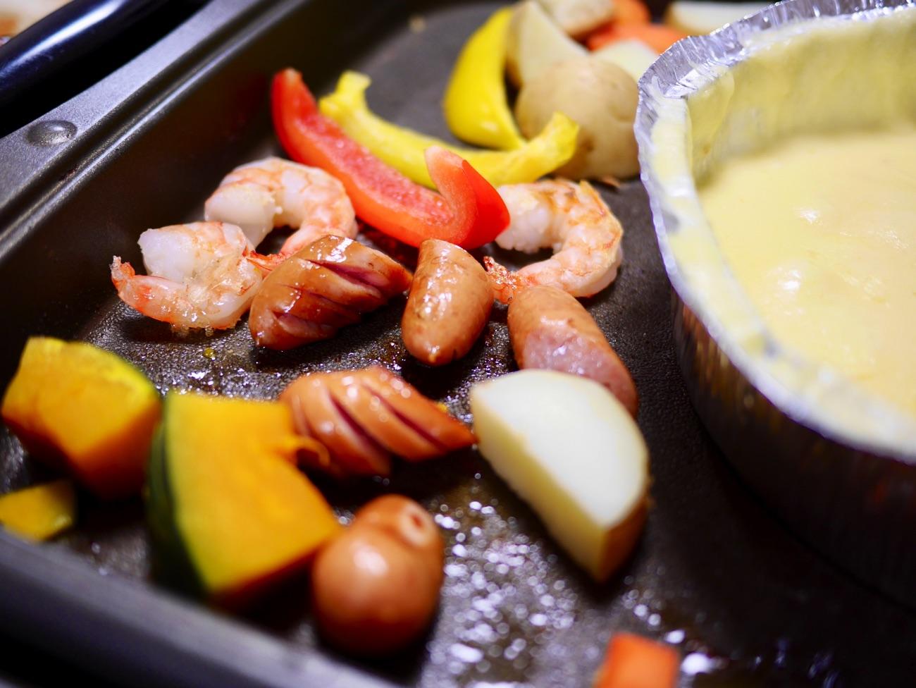 ホットプレートには食べられる状態で並べる方が良い?