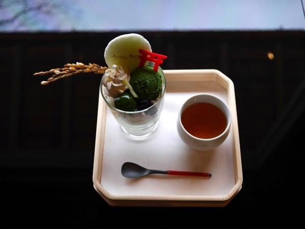 稲荷茶寮の濃抹茶パフェ
