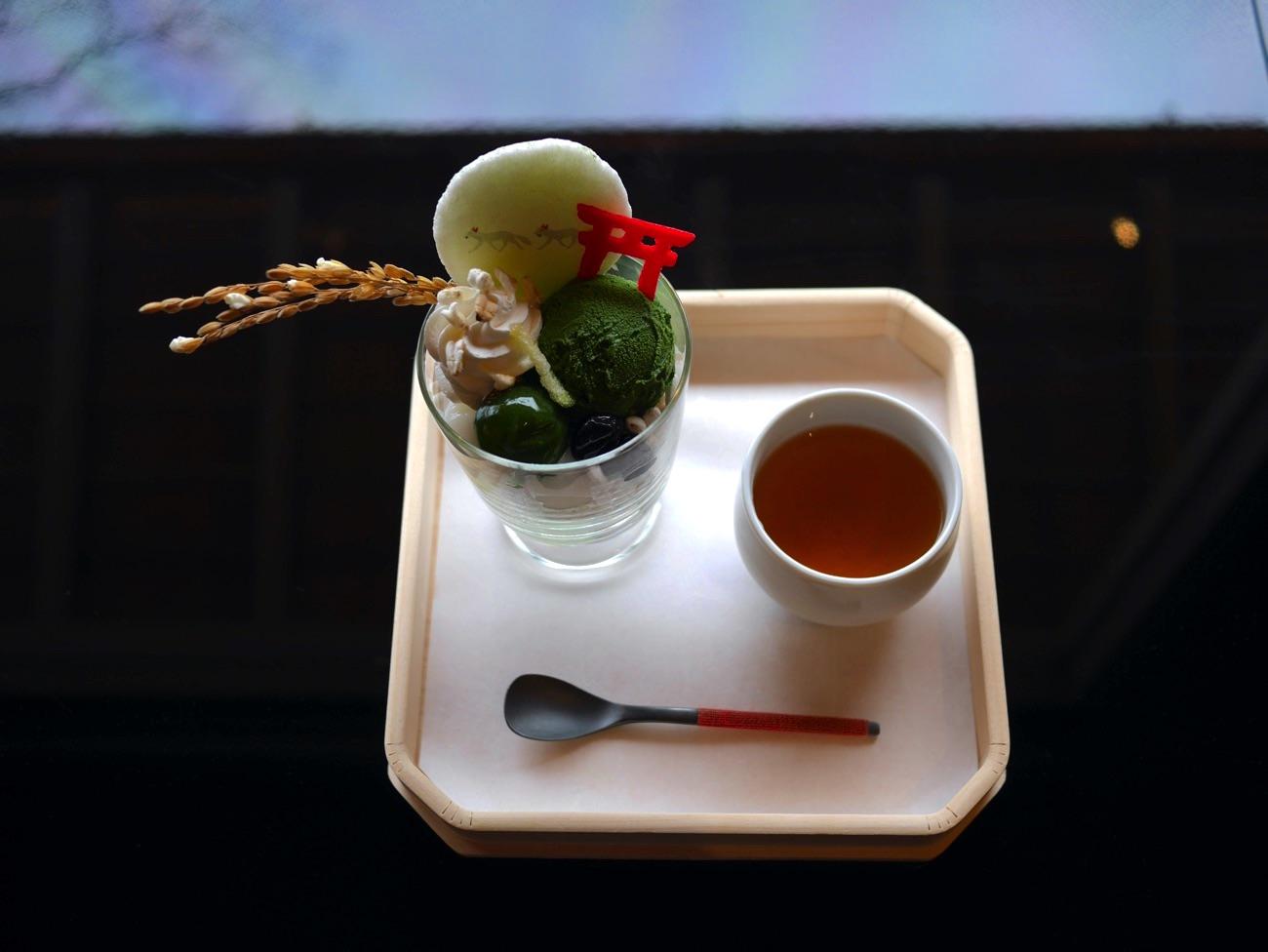 稲荷茶寮の「濃抹茶パフェ」