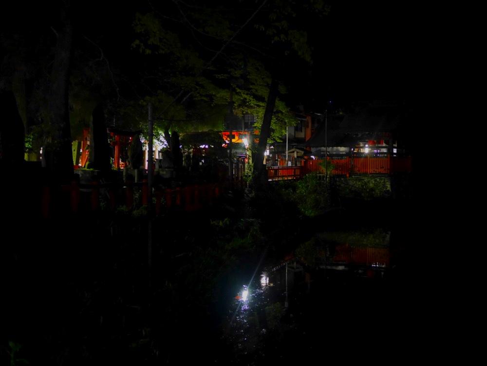 夜の谺ヶ池