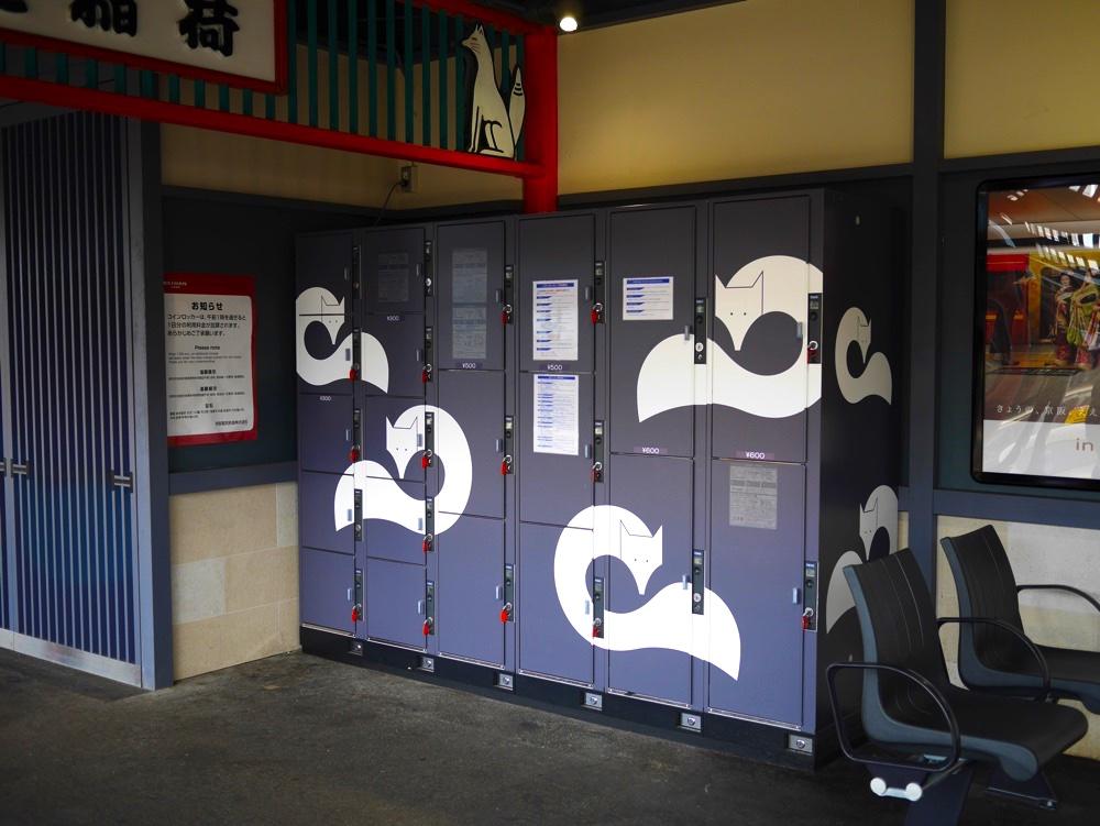 京阪本線・伏見稲荷駅の構内にあるコインロッカー