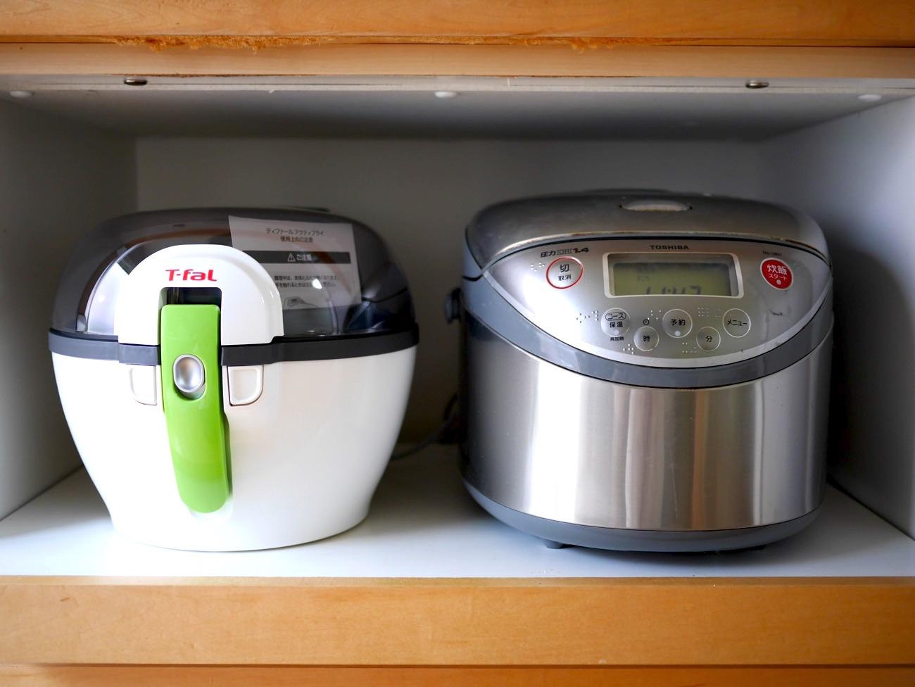 炊飯器と同じぐらいの大きさ