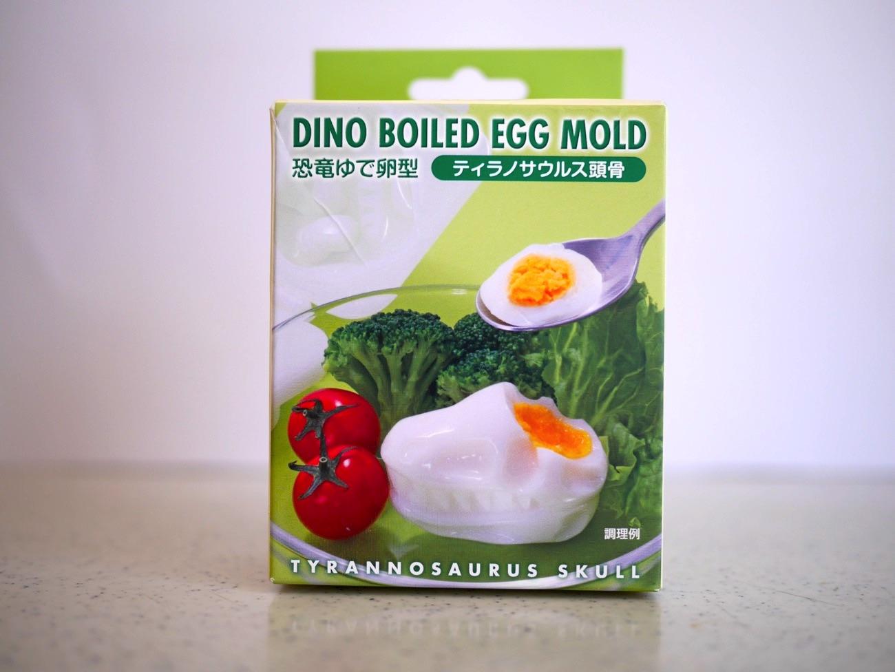 ゆで卵が恐竜のカタチに!?