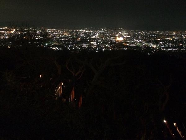 四つ辻から眺める京都の夜景