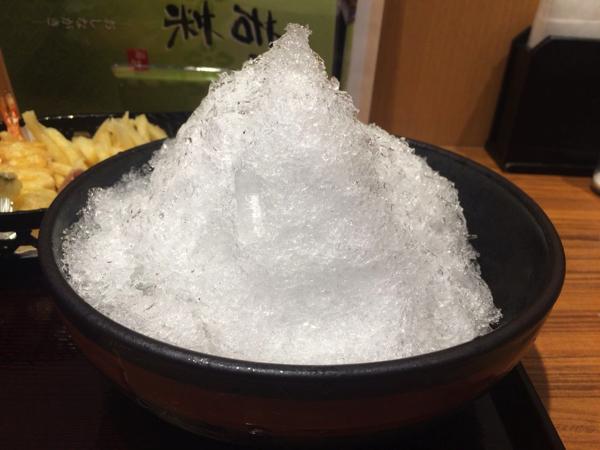 見た目はかき氷!?