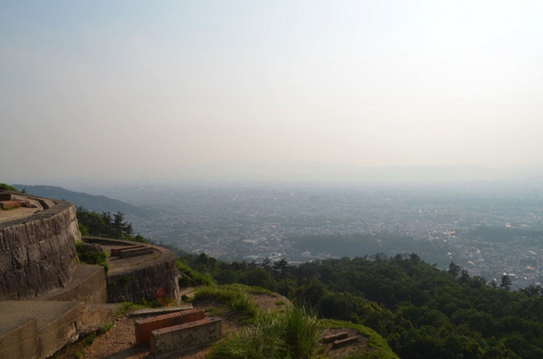 京都市内が一望できる火床