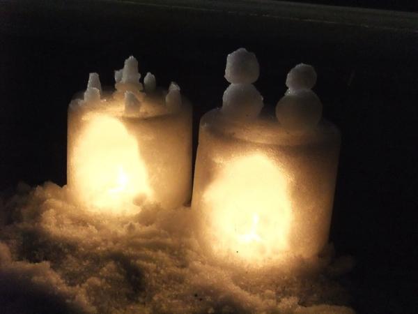 雪灯籠の幻想的な灯りに感動!