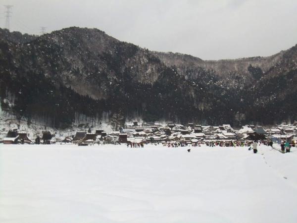冬の美山かやぶきの里
