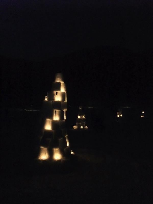 タワー型の雪灯籠!?