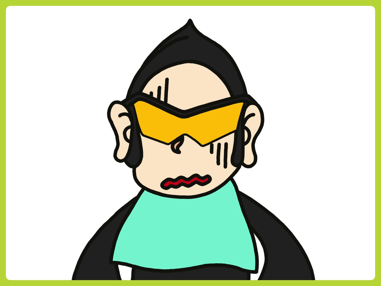 虫歯の治療にサングラス着用?