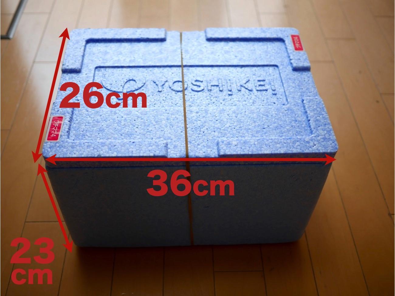 「クールBOX」の大きさ